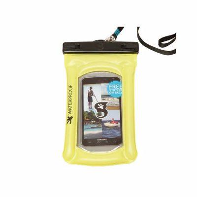 gecko float phone dry bag neon green
