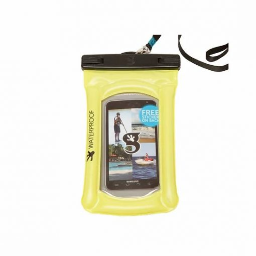 gecko float phone dry bag neon green